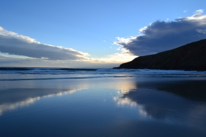 Sunset at Sandfly Bay, Otago Pennisula, Dunedin