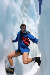 Ice climbing on Franz Josef Glacier